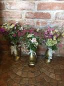 Skleněné lahve na květinovou výzdobu,