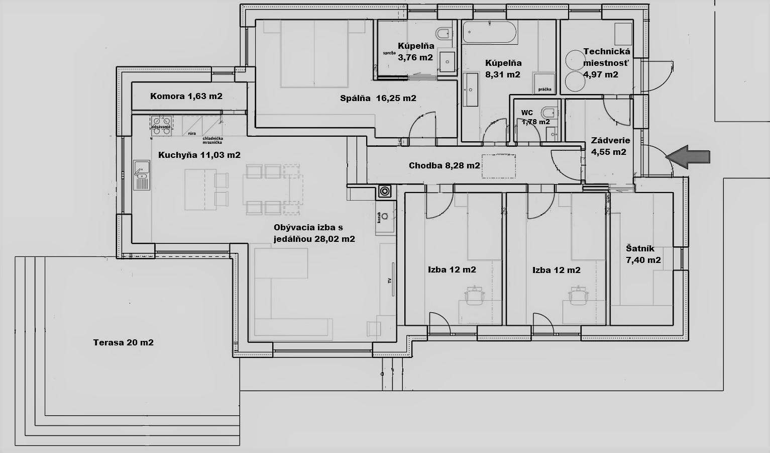 Projekt Domu Bungalov 10111 Projekty