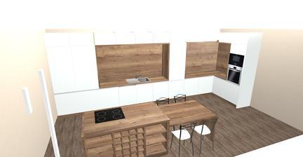 realita kuchyne ( stol je este v rieseni ale dub halifax tabak ostava )