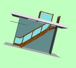 Schody verzia 3 uz po dalsom zamerani kombinacia dub a sklo