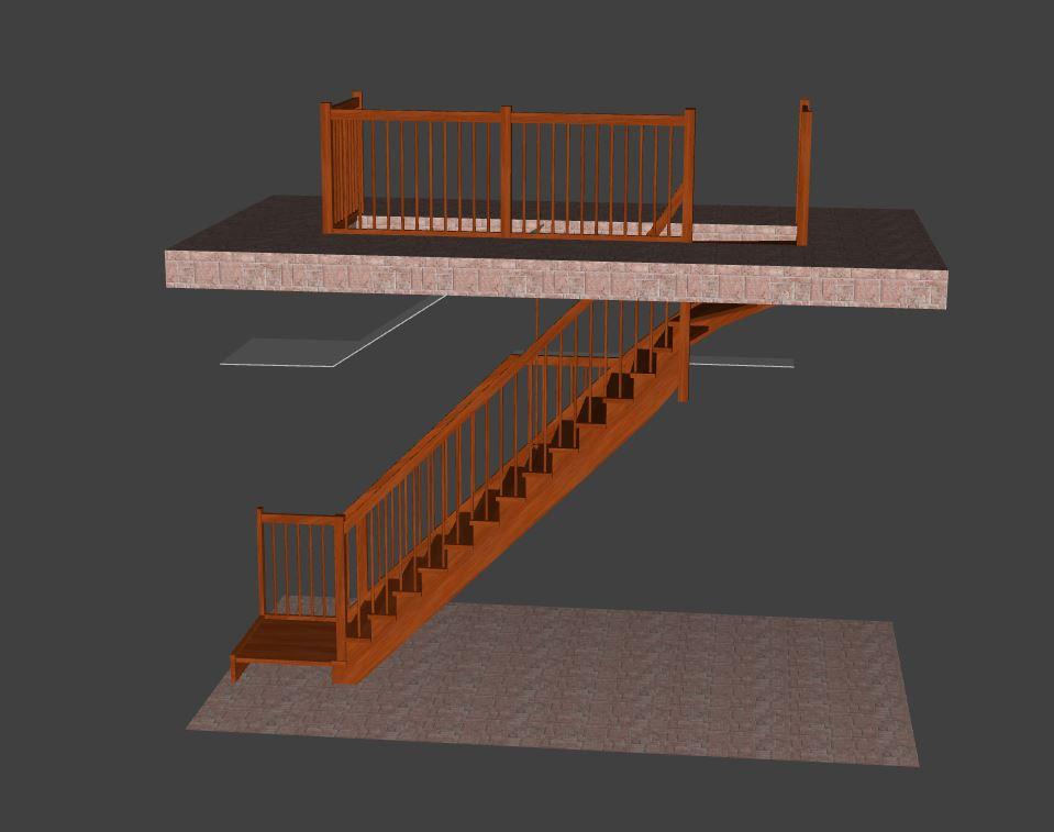 Prerabka domu v historickom centre - schody, finalna verzia, ktora ide do vyroby