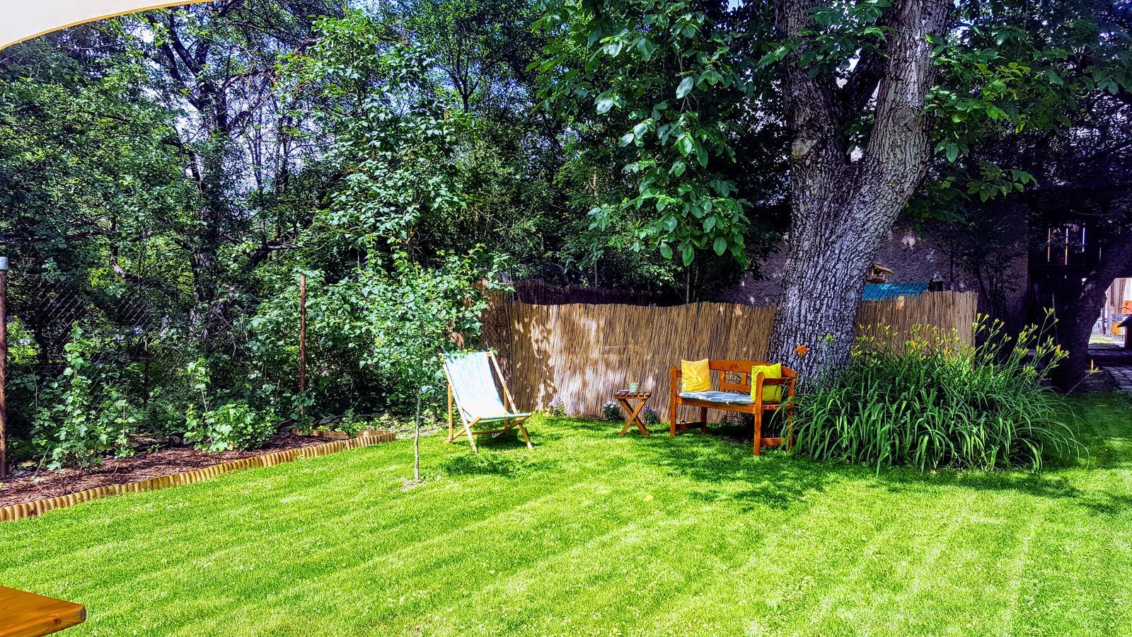 Zahrada a upravy okolo domu - konecne priestor na citanie pod orechom....kolko hejtu som si vypocul o tom ze pod orechom nikdy nic rast nebude a podobne