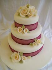 dort favorit 1 - růžová mašle+bílorůžové růžičky