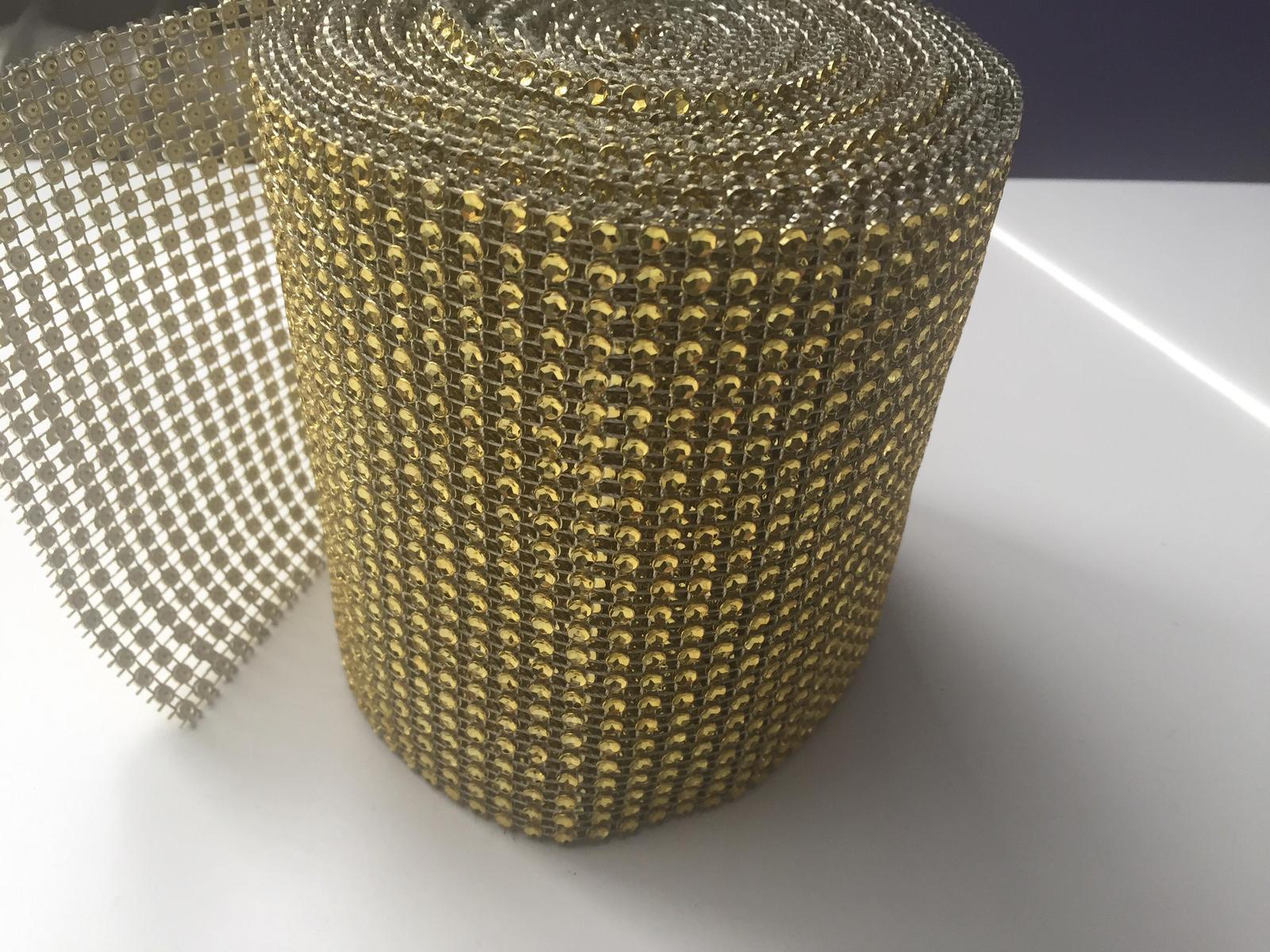Zlata strasova stola na stol  - Obrázok č. 3