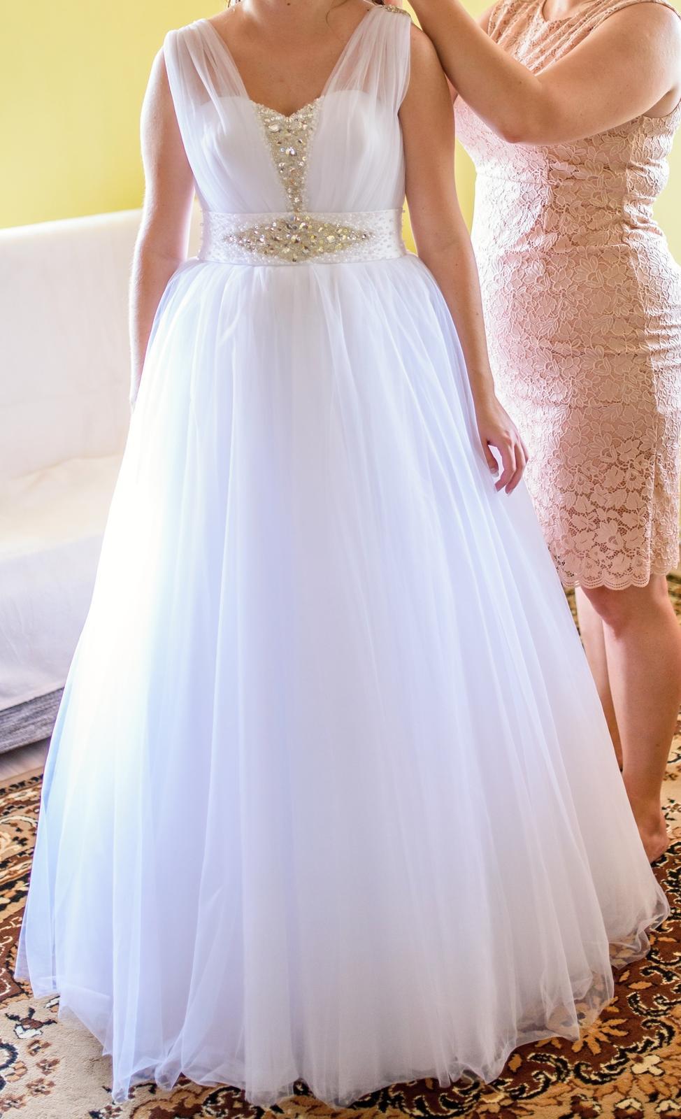 Svadobné šaty, veľ.42 - Obrázok č. 1