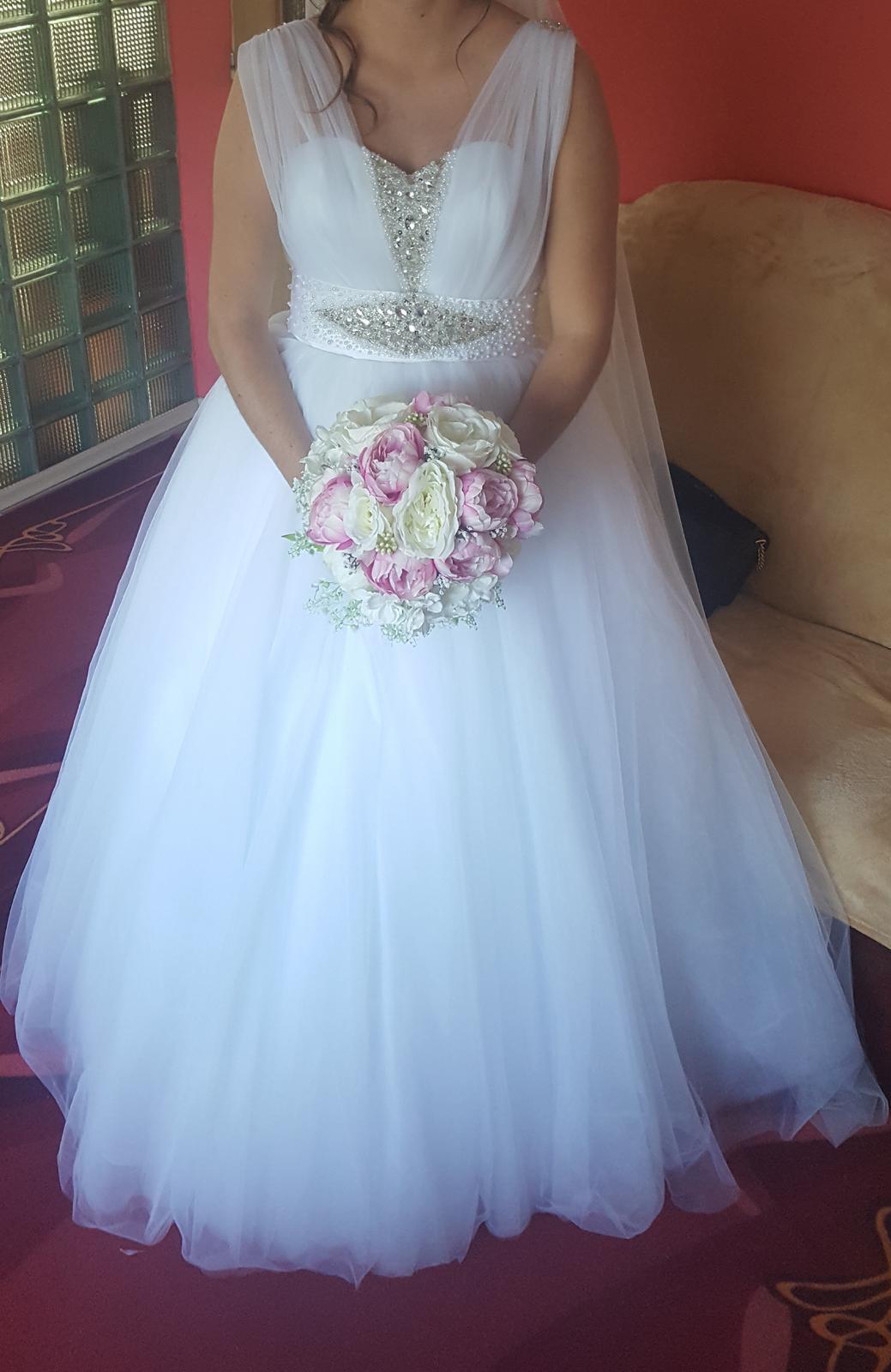 Svadobné šaty, veľ.42 - Obrázok č. 2