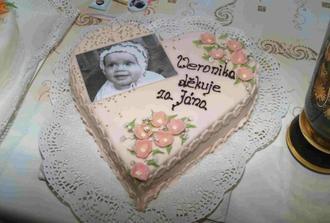 děkovný dort