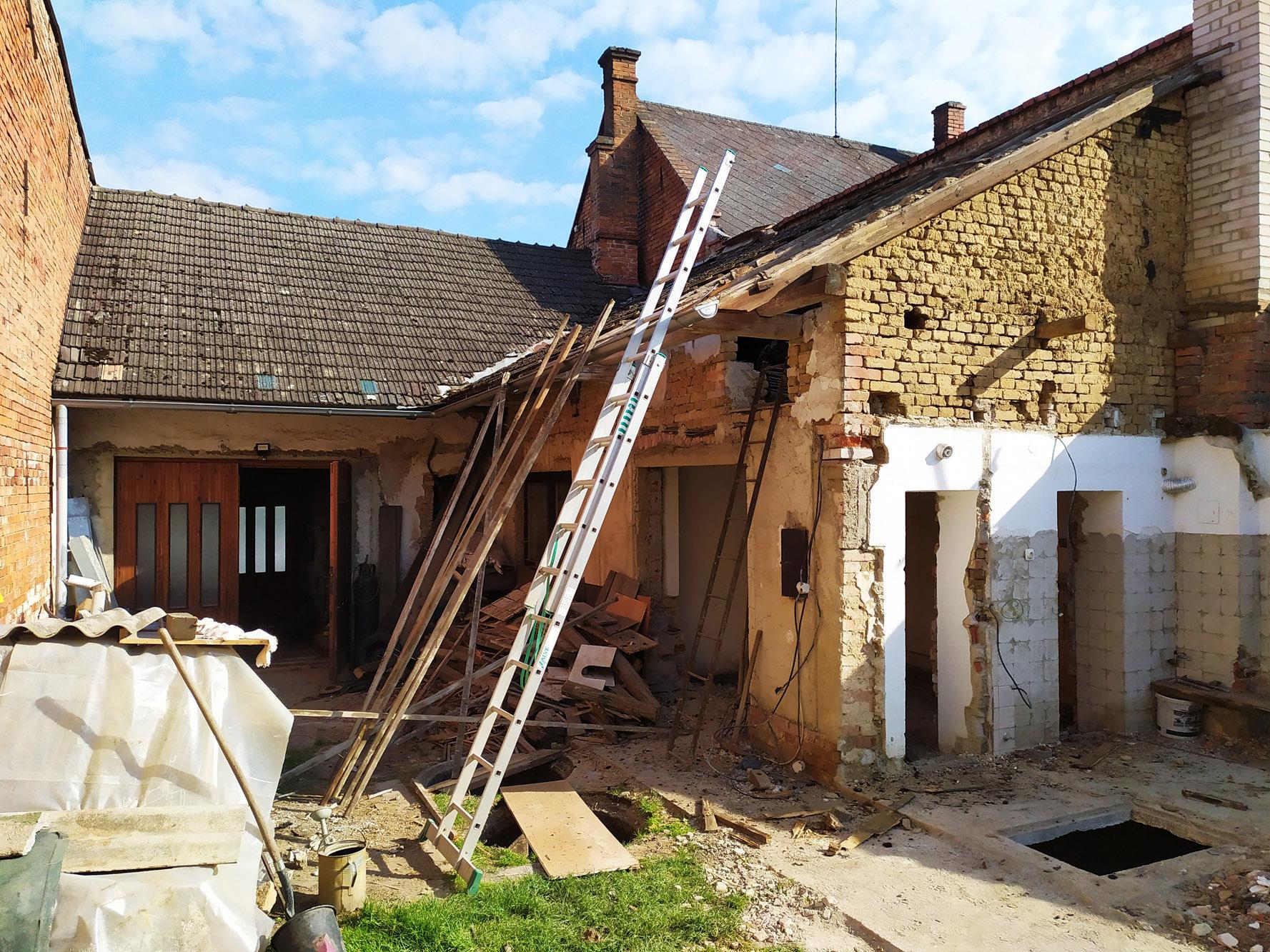 Bourání staré a stavba nové řadovky - Obrázek č. 25
