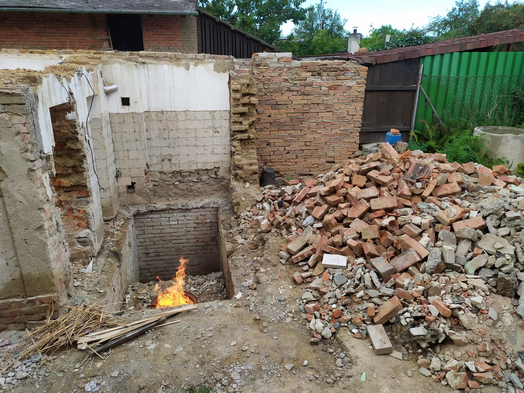 Bourání staré a stavba nové řadovky - Obrázek č. 42