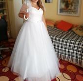 Svatební šaty vel. 42-46 (šněrovací) , 42