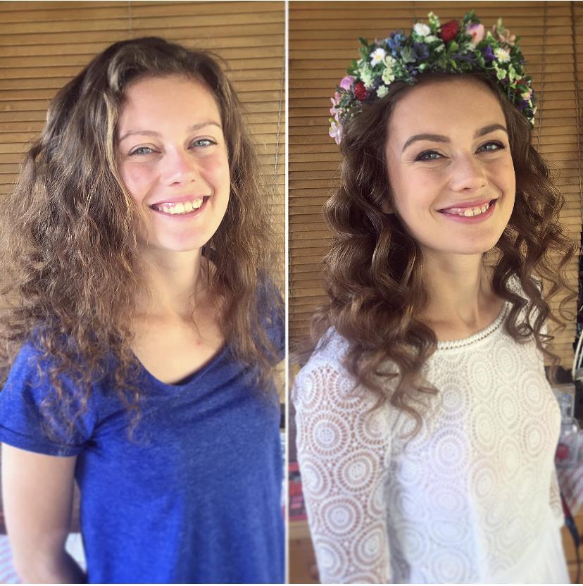 Ahojte krásky :)  Ak sú tu nevesty, ktoré chcú na svojej svadbe vyzerať úžasne, ale stále PRIRODZENE, myslím, že makeup a účes odo mňa by sa vám mohol páčiť :) - Obrázok č. 1