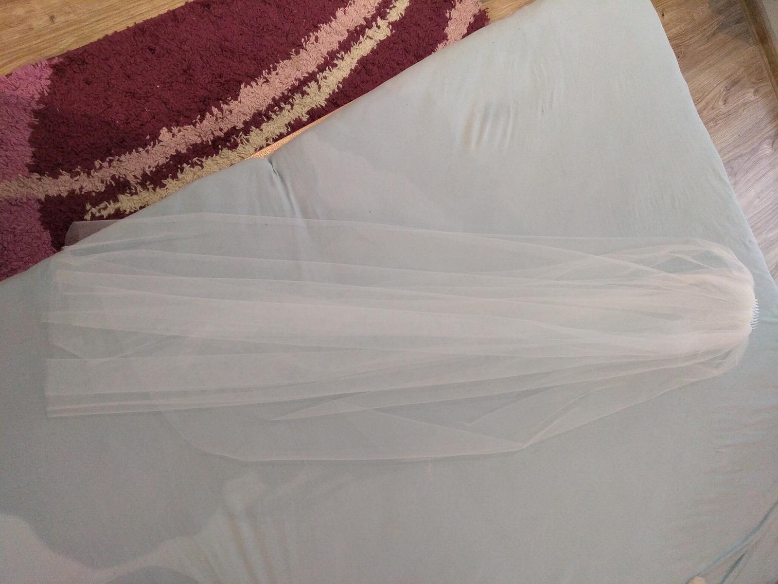 Biely závoj 120cm - Obrázok č. 1