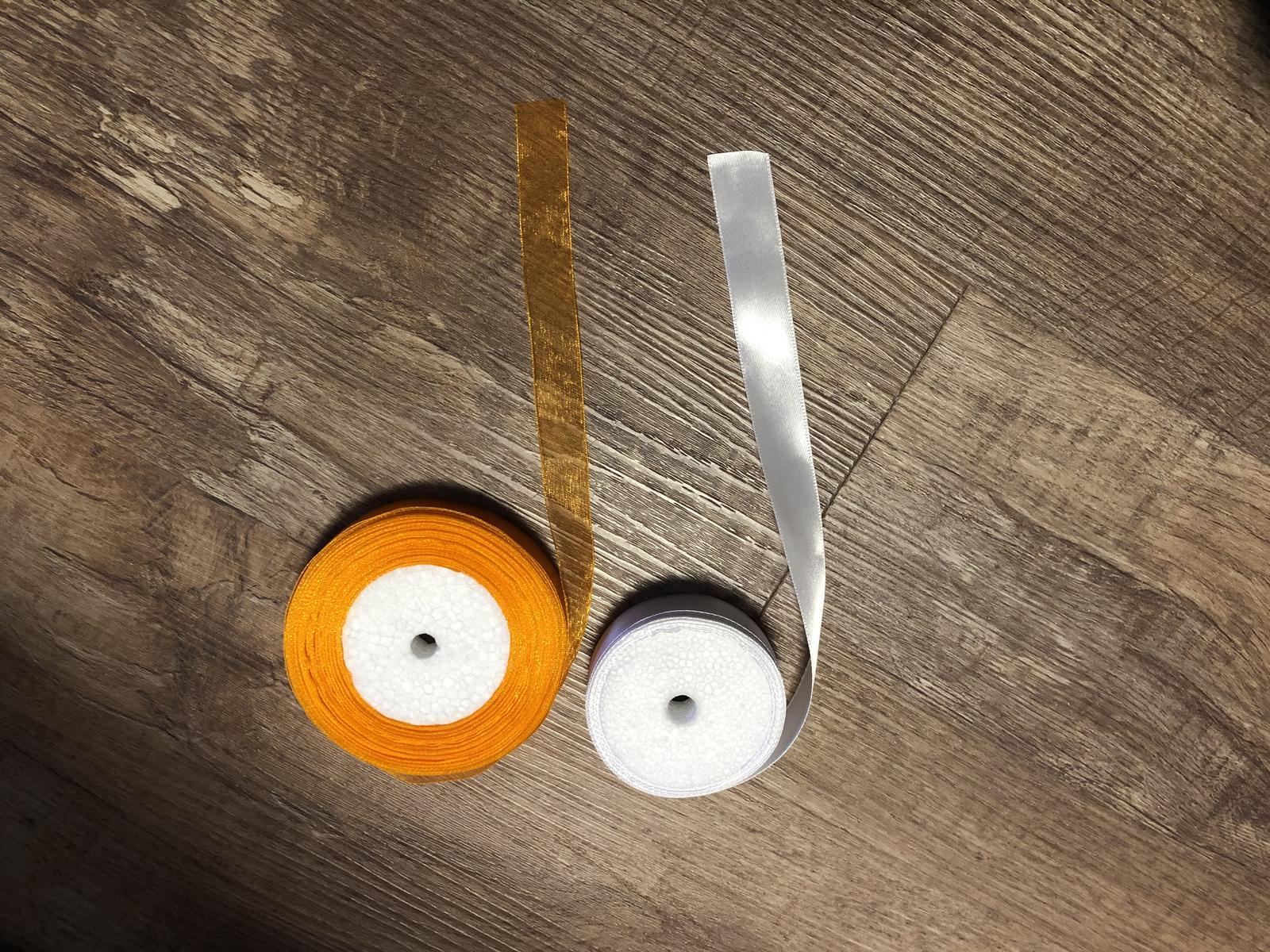 Prodám dekorace ze svatby (přírodní, oranžová, meruňková, broskvová) - Obrázek č. 1