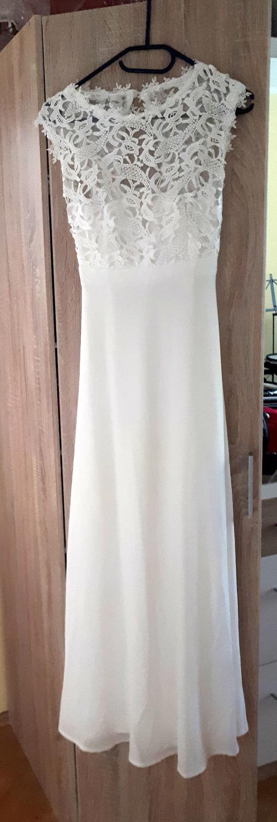 Bílé šaty Eva a Lola, vel. L, sedí ale spíše M - Obrázek č. 1