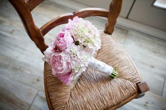 hortenzie- pivonky, dokonala kombinacia