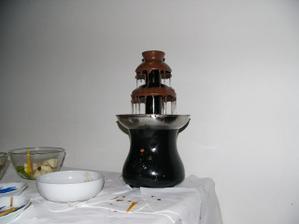 čokoládová fontánka