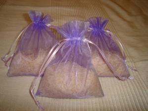 pytlíčky na rýži už jsou naplněny:)