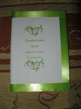 svatební kniha vlastní výroby