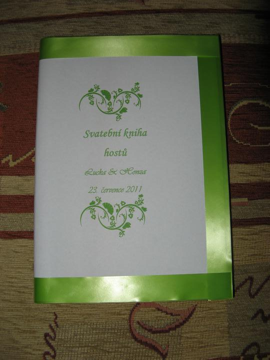 Přípravy - svatební kniha vlastní výroby