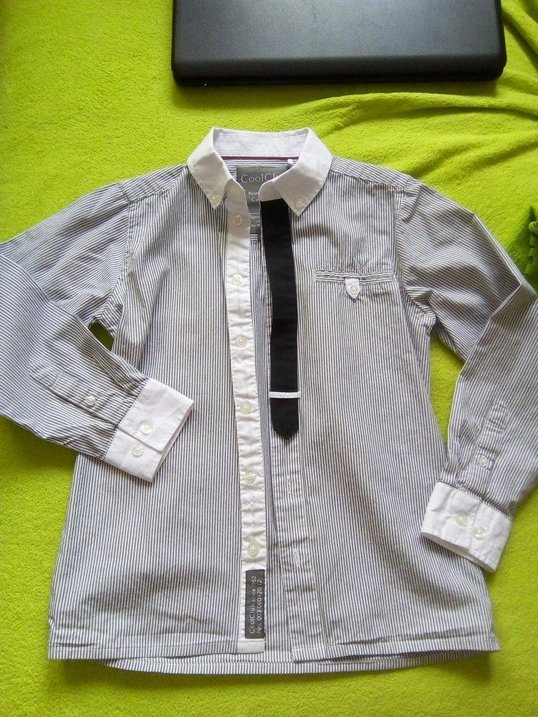 Kosela pasik so vsitou kravatou 134/140 - Obrázok č. 1
