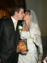 novomanželský bozk
