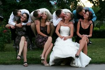 ...with bridesmaids...
