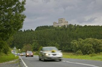 Odjezd z hradu na svatební oběd - hostinu do Jiřičné.
