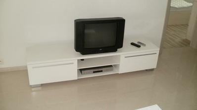 TV stolík za 100ku, biela vysoký lesk, šírka 180cm
