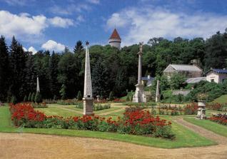 zámek Konopiště -zahrada, zde bude možná naše svatba