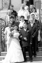 společná fotka s rodinou