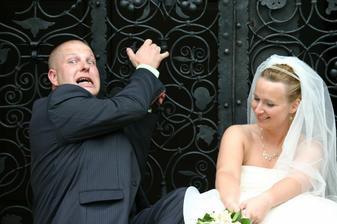 manžel se sice fotit nechtěl, ale byla to sranda