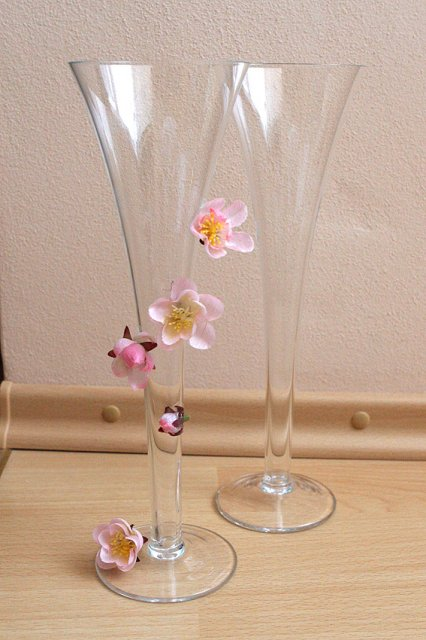 Moja fialova svadba - Naše poháriky - stali cca 200,- za pár