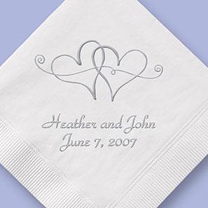 Moja fialova svadba - Dáme si aj servítky s fialkovou potlacou