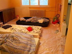 spanie pri malovani