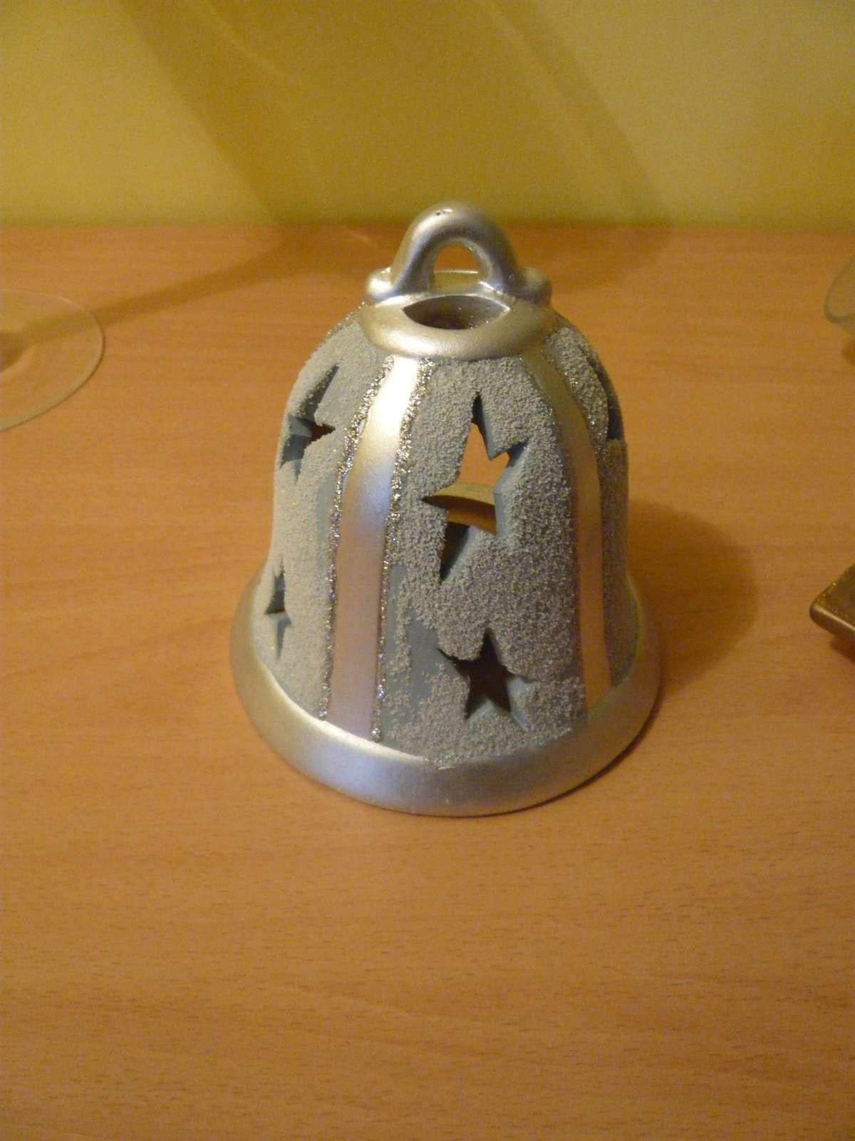Svietnik keramický-zvonček - Obrázok č. 1