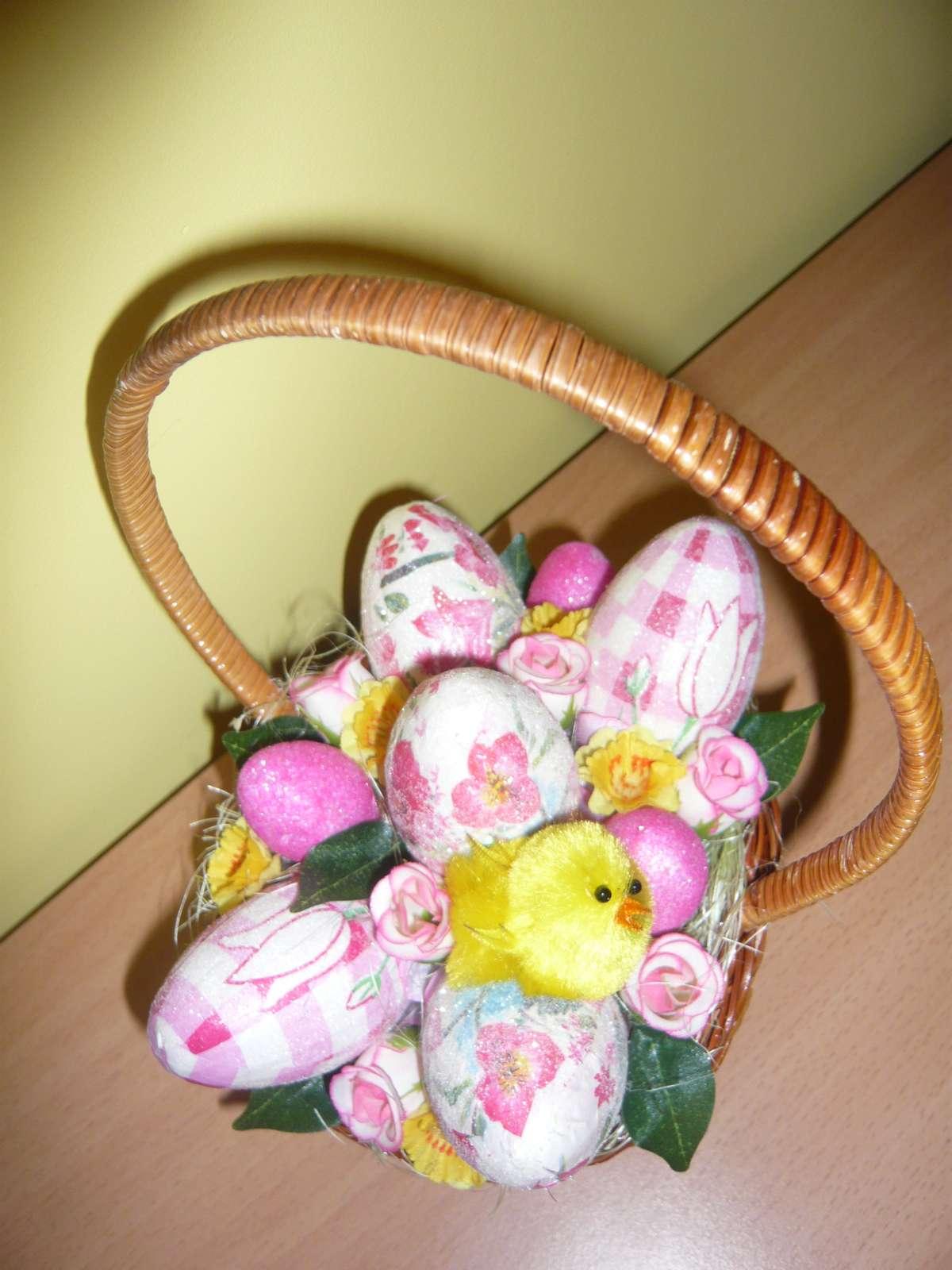 Veľkonočná dekorácia-košík - Obrázok č. 1