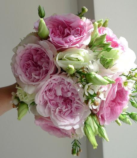 Svatební kytice z růží Austin David - Obrázek č. 1