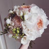 Meruňkovo-bílá kytice,