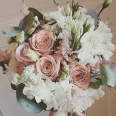 """Svatební kytice s růžemi """"Cappuccino"""","""