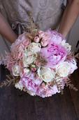 Romantická svatební kytice,