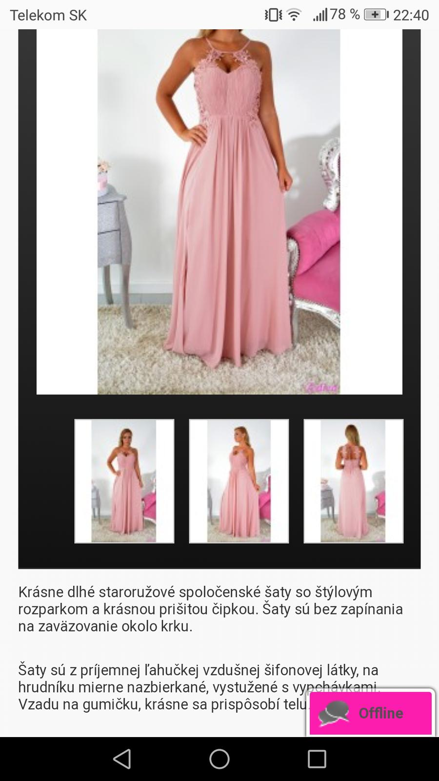 Staroružové šaty - Obrázok č. 2