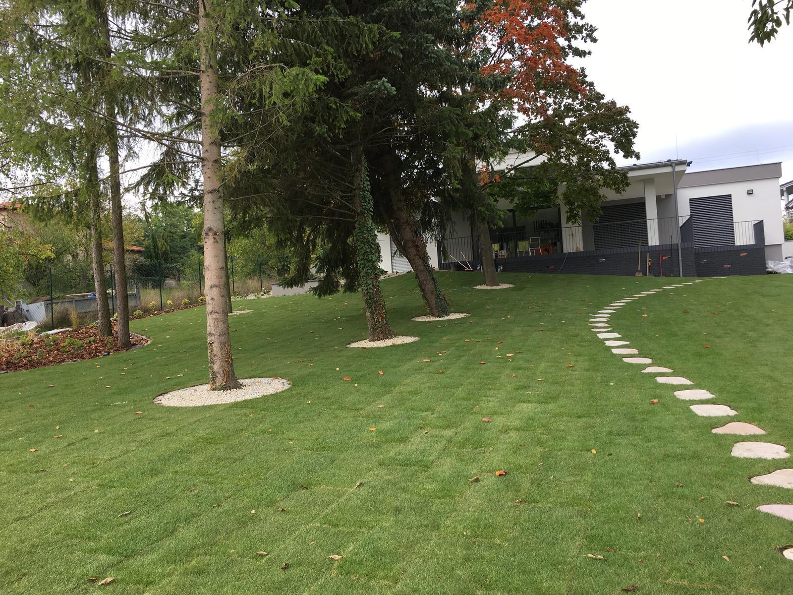 Zahrada - Vyhlad na dom