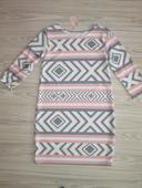 Sivo ružové šaty UNI, M
