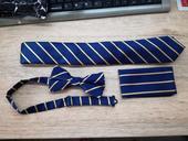 Souprava motýlek, kravata, kapesníček ,