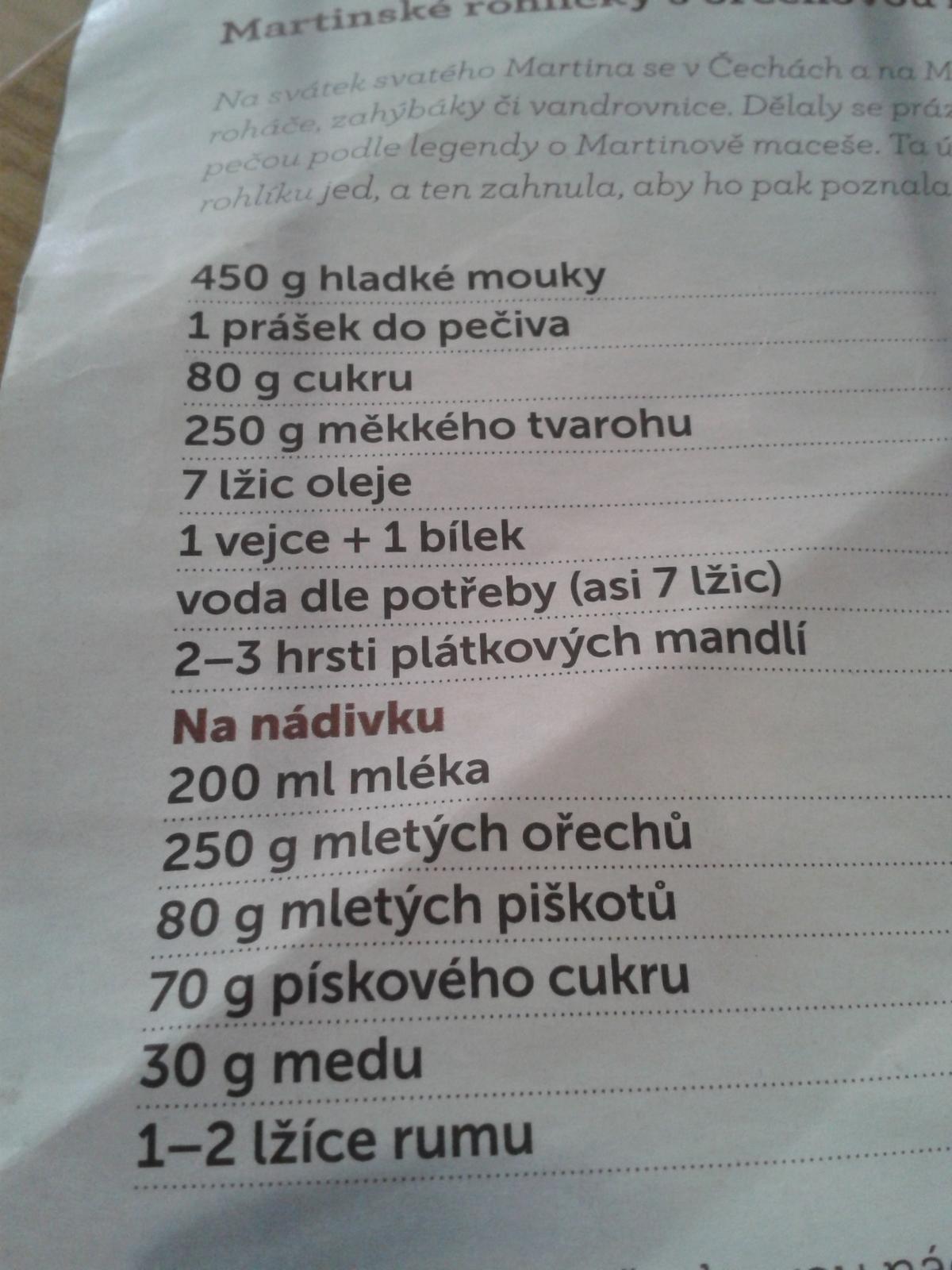 Peceni je radost..:-) - Rohlicky- recept