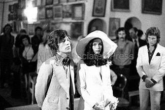 Mick Jagger a Bianca Perez Morena de Macias