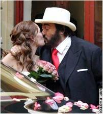 Luciano Pavarotti a Nicoletta Mantovani