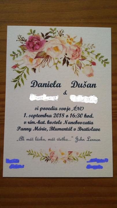 pozvánky k stolu - Obrázok č. 2