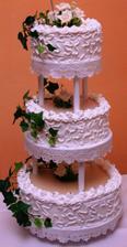 svadobná torta, bola nádherná