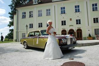 rolls royce jako odvoz nevěsty- překvápko od manžela